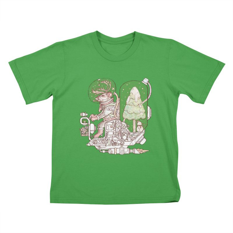 Reindeer space suits Kids T-Shirt by makapa's Artist Shop