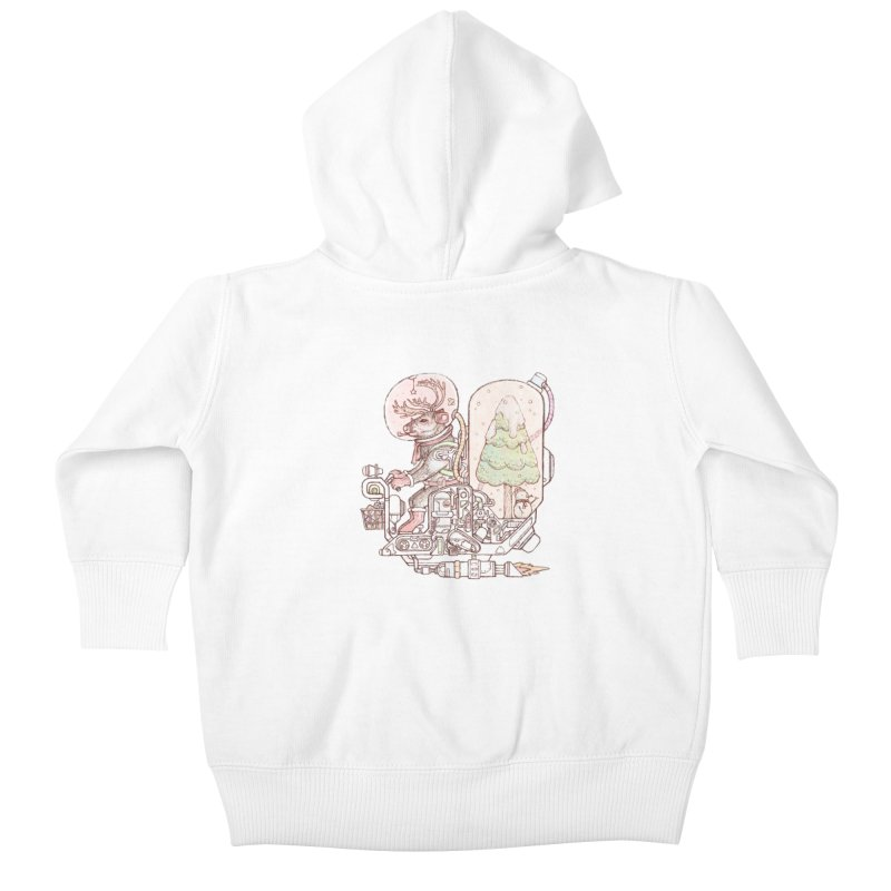 Reindeer space suits Kids Baby Zip-Up Hoody by makapa's Artist Shop