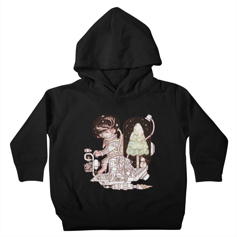 Reindeer space suits Kids Toddler Pullover Hoody by makapa's Artist Shop
