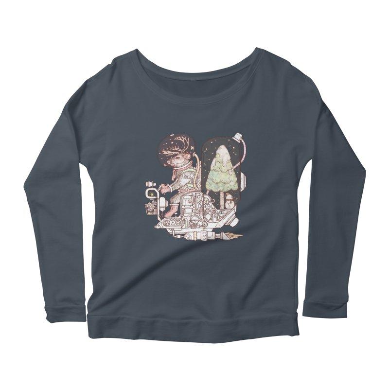 Reindeer space suits Women's Scoop Neck Longsleeve T-Shirt by makapa's Artist Shop