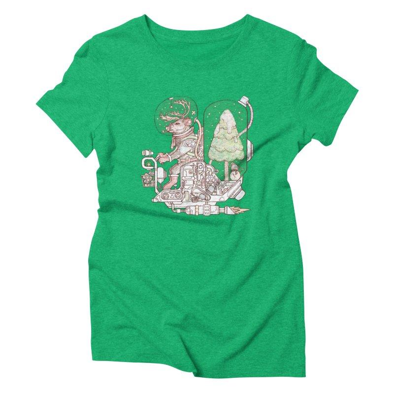Reindeer space suits Women's Triblend T-Shirt by makapa's Artist Shop