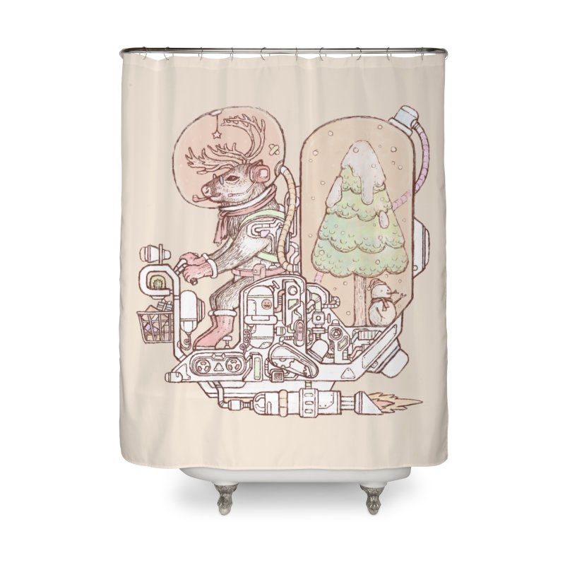 Reindeer space suits Home Shower Curtain by makapa's Artist Shop