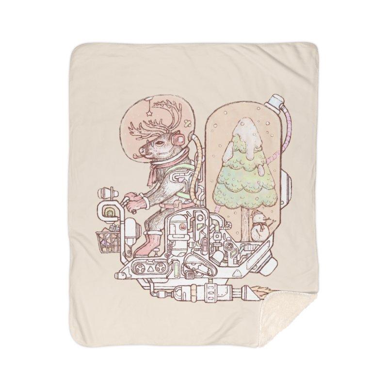 Reindeer space suits Home Sherpa Blanket Blanket by makapa's Artist Shop