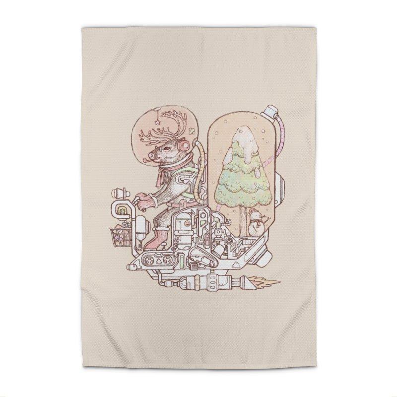Reindeer space suits Home Rug by makapa's Artist Shop