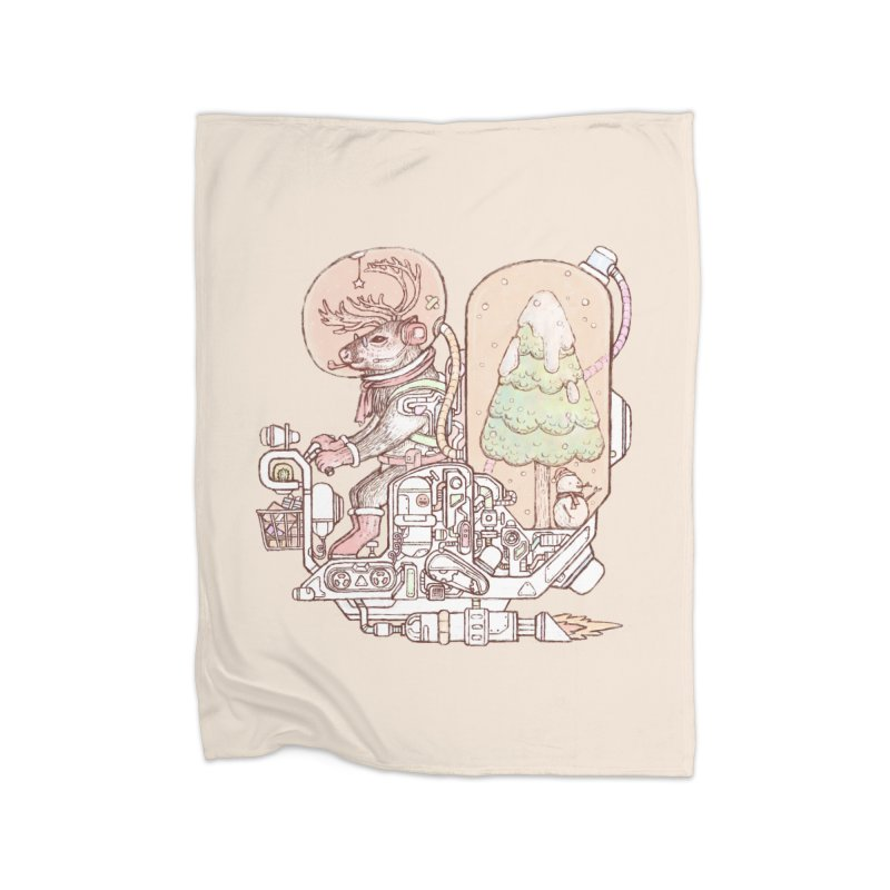 Reindeer space suits Home Blanket by makapa's Artist Shop