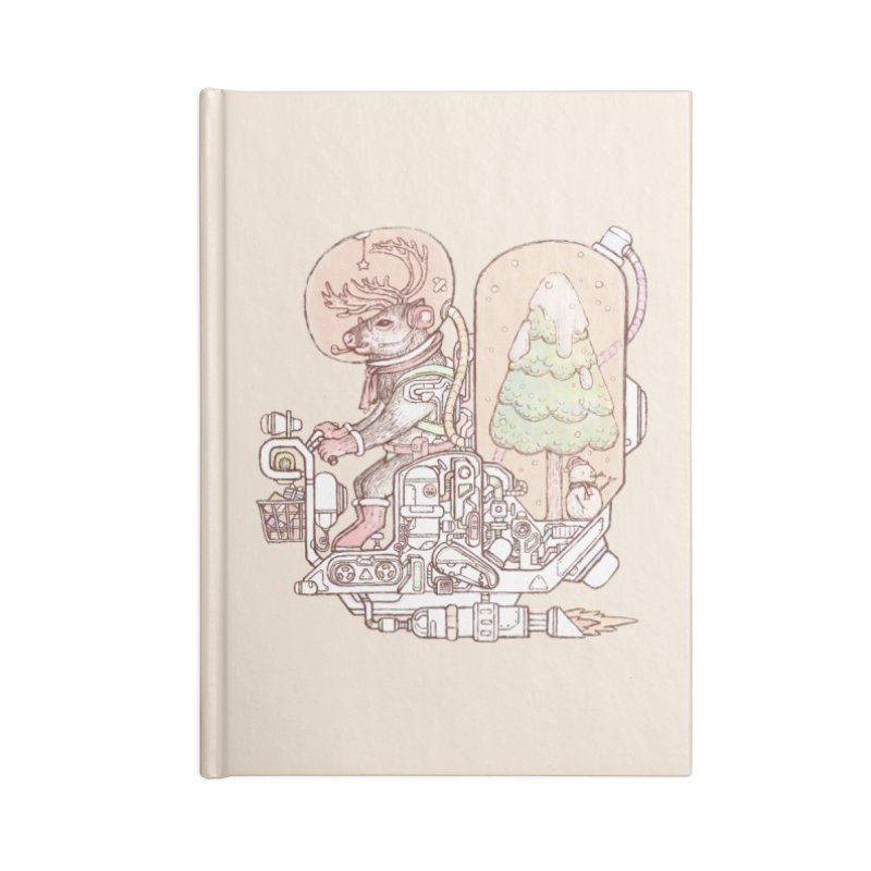 Reindeer space suits Accessories Lined Journal Notebook by makapa's Artist Shop