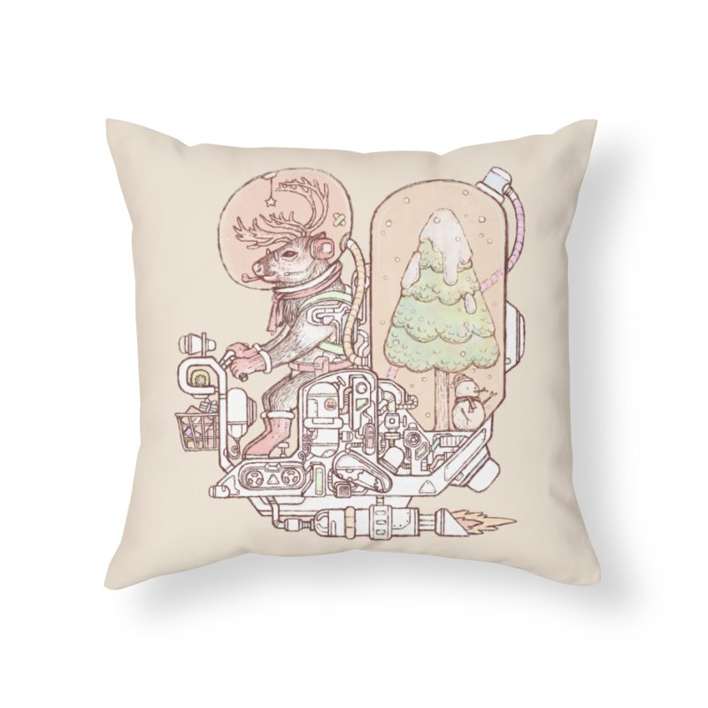 Reindeer space suits Home Throw Pillow by makapa's Artist Shop