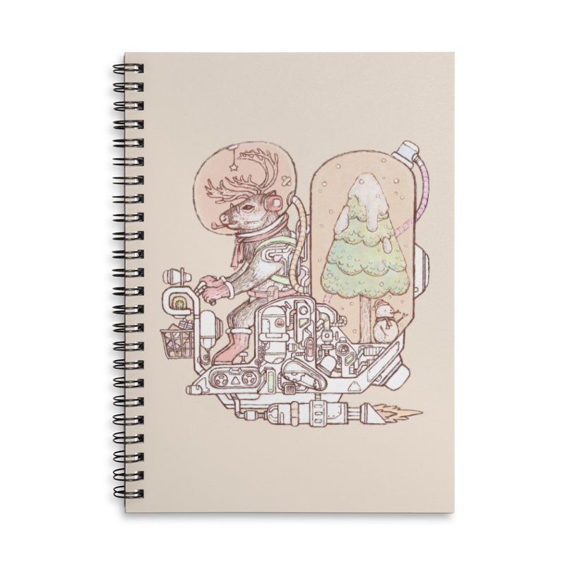 Reindeer space suits Accessories Lined Spiral Notebook by makapa's Artist Shop
