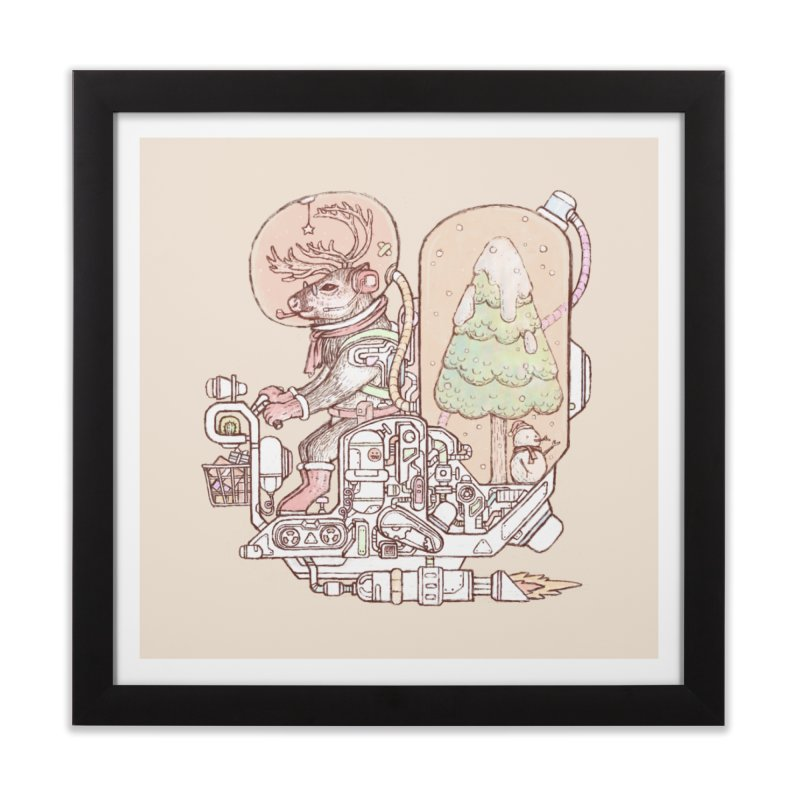 Reindeer space suits Home Framed Fine Art Print by makapa's Artist Shop