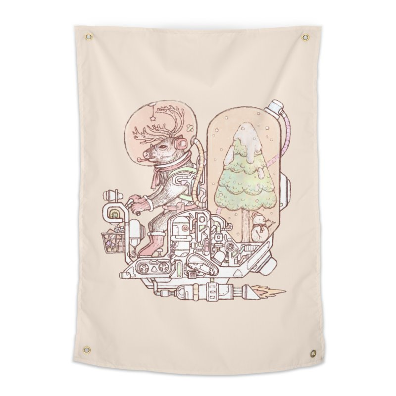 Reindeer space suits Home Tapestry by makapa's Artist Shop