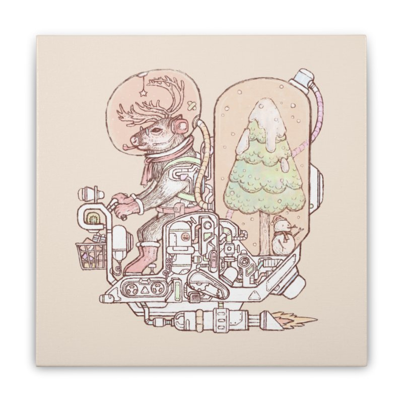 Reindeer space suits Home Stretched Canvas by makapa's Artist Shop