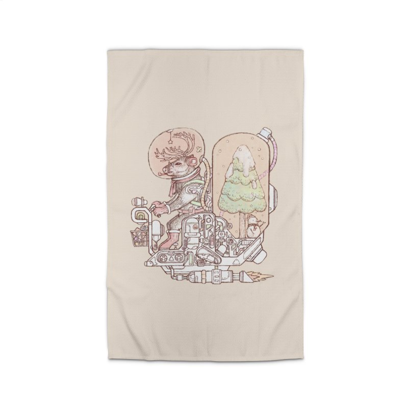Reindeer space suits Home Rug by makapa's Artist Shop