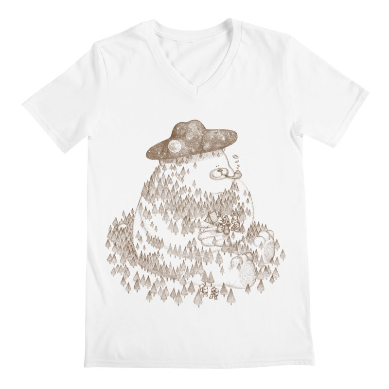let go to camping Men's V-Neck by makapa's Artist Shop