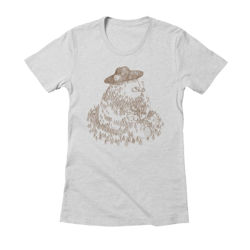 let go to camping Women's Fitted T-Shirt by makapa's Artist Shop