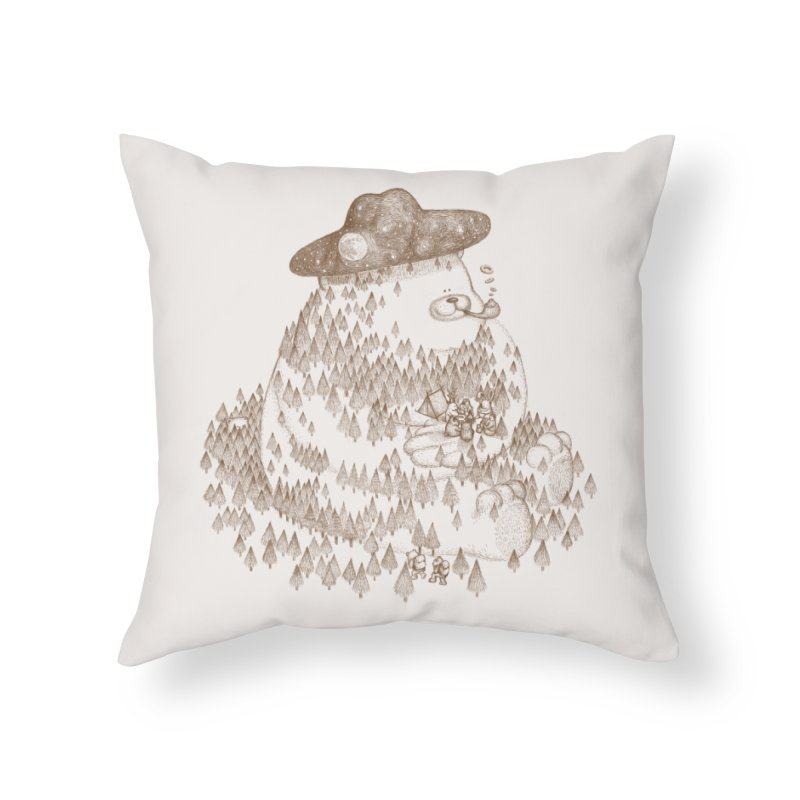 let go to camping Home Throw Pillow by makapa's Artist Shop
