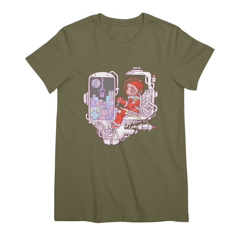 Santa space suits Women's Premium T-Shirt by makapa's Artist Shop