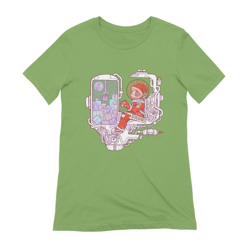 Santa space suits Women's Extra Soft T-Shirt by makapa's Artist Shop