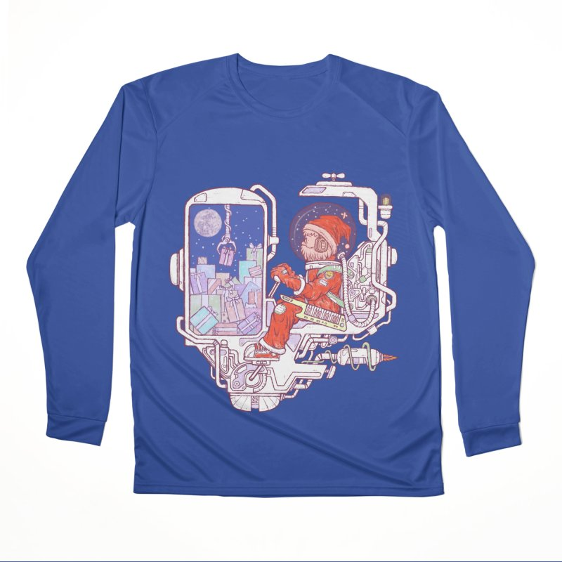 Santa space suits Women's Performance Unisex Longsleeve T-Shirt by makapa's Artist Shop