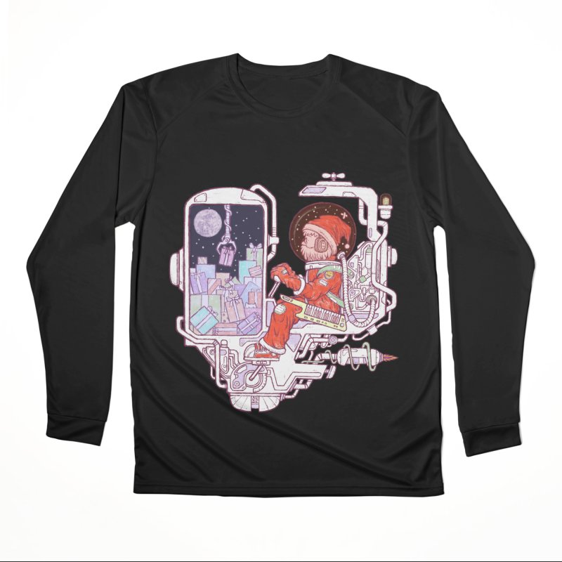 Santa space suits Men's Performance Longsleeve T-Shirt by makapa's Artist Shop