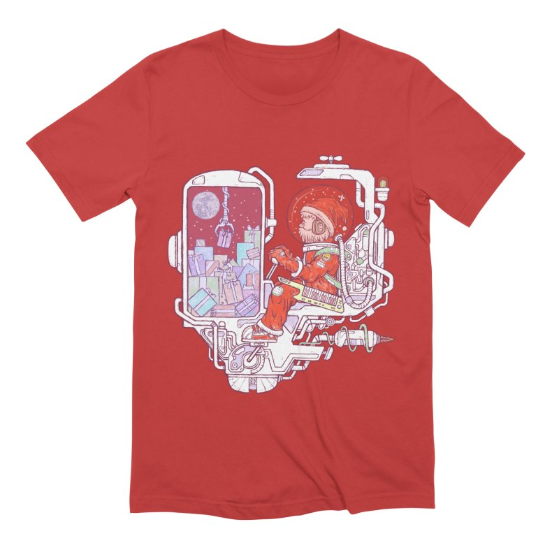 Santa space suits Men's Extra Soft T-Shirt by makapa's Artist Shop