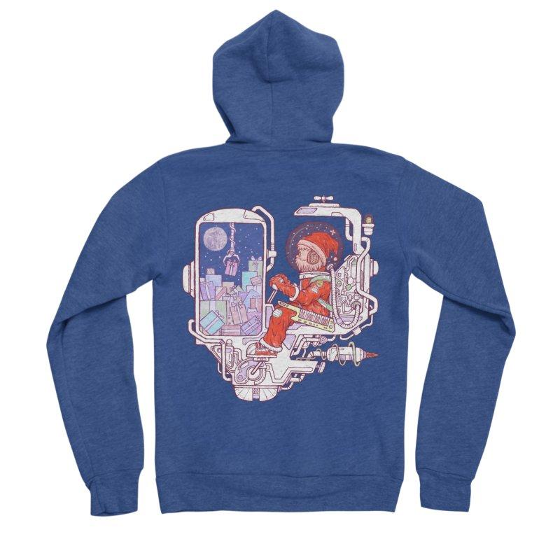 Santa space suits Women's Sponge Fleece Zip-Up Hoody by makapa's Artist Shop
