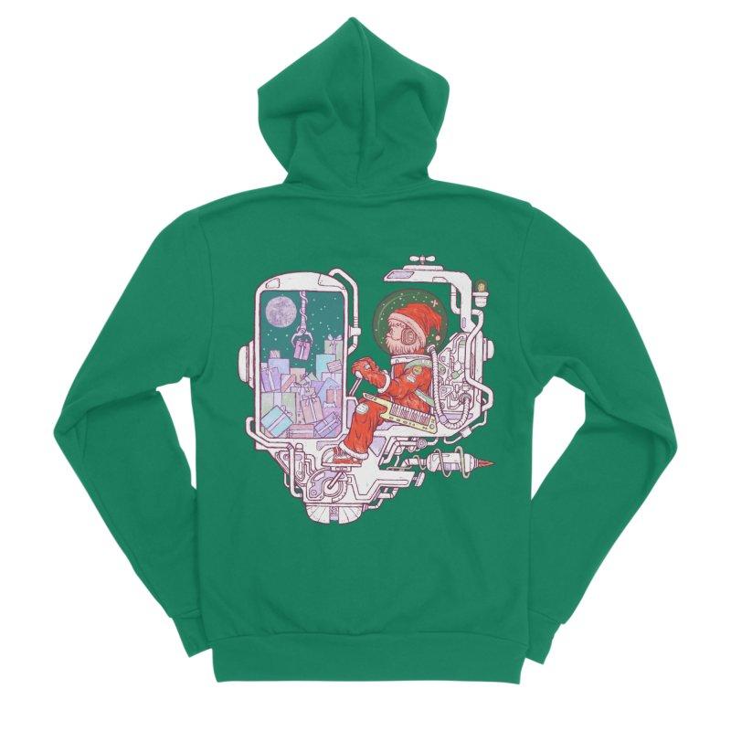 Santa space suits Men's Sponge Fleece Zip-Up Hoody by makapa's Artist Shop