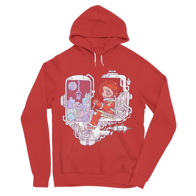 Santa space suits Women's Pullover Hoody by makapa's Artist Shop
