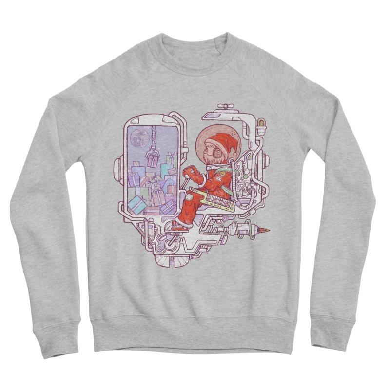 Santa space suits Men's Sponge Fleece Sweatshirt by makapa's Artist Shop