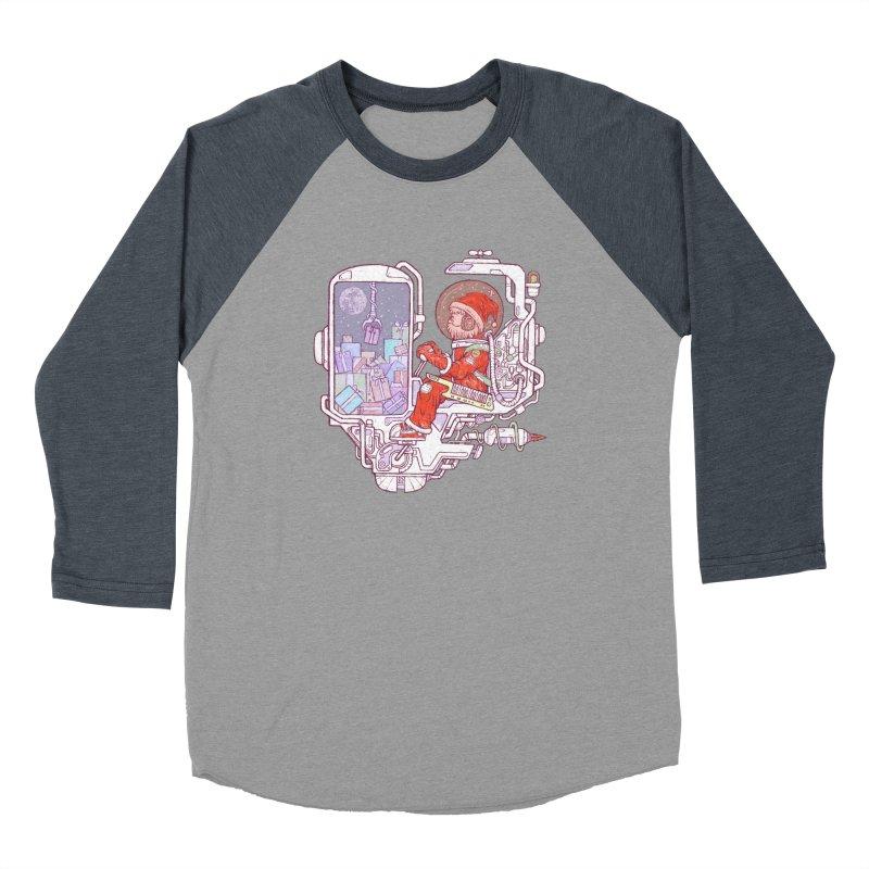 Santa space suits Women's Baseball Triblend Longsleeve T-Shirt by makapa's Artist Shop