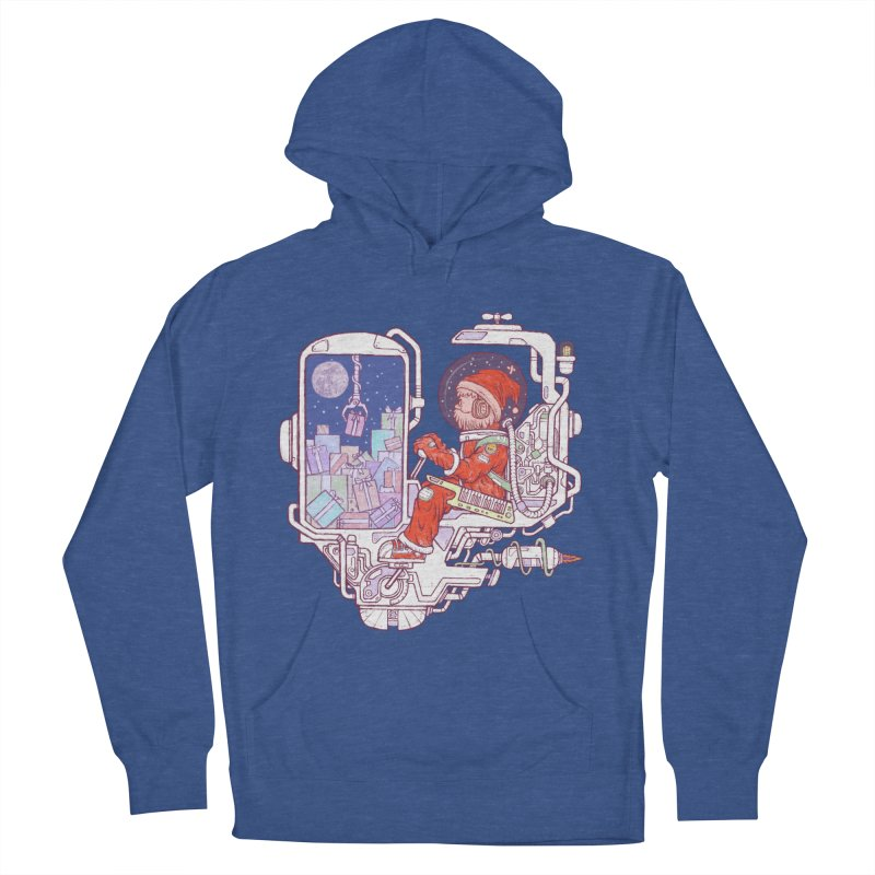 Santa space suits Women's French Terry Pullover Hoody by makapa's Artist Shop