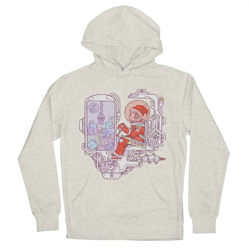 Santa space suits Men's French Terry Pullover Hoody by makapa's Artist Shop