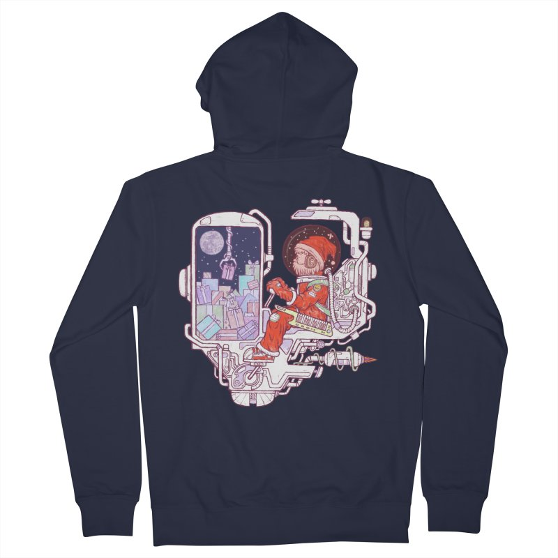 Santa space suits Women's French Terry Zip-Up Hoody by makapa's Artist Shop
