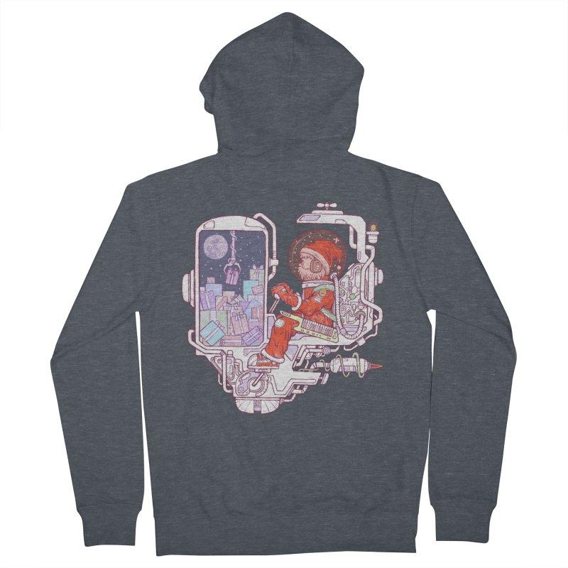 Santa space suits Men's Zip-Up Hoody by makapa's Artist Shop