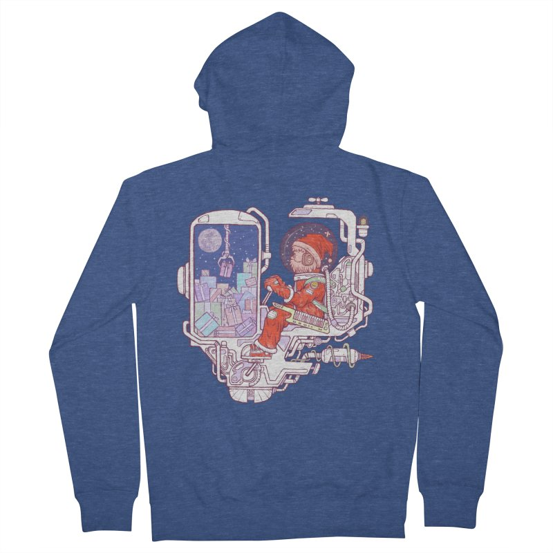 Santa space suits Men's French Terry Zip-Up Hoody by makapa's Artist Shop