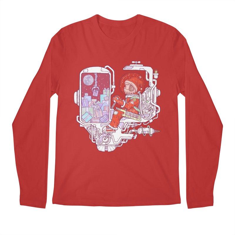 Santa space suits Men's Regular Longsleeve T-Shirt by makapa's Artist Shop