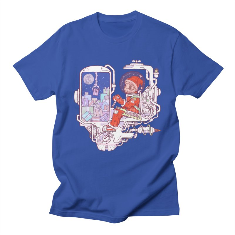Santa space suits Men's Regular T-Shirt by makapa's Artist Shop