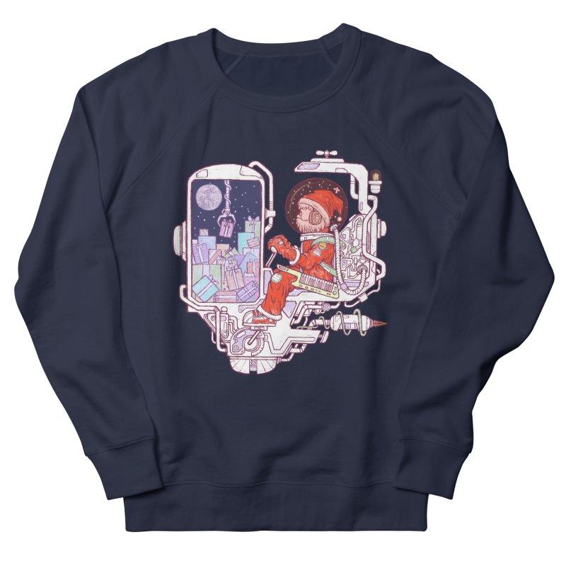 Santa space suits Women's French Terry Sweatshirt by makapa's Artist Shop