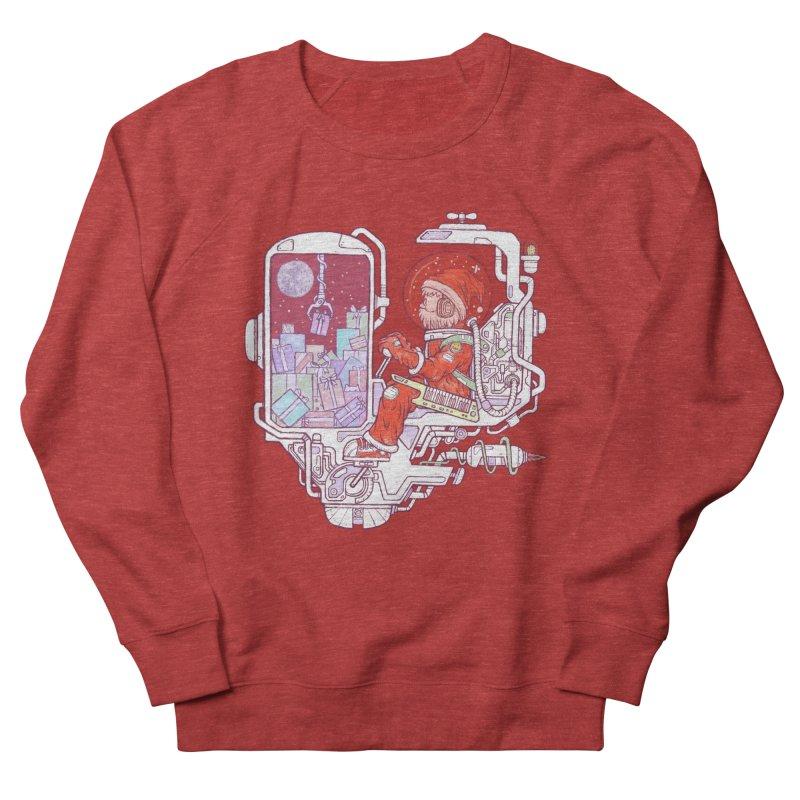 Santa space suits Men's French Terry Sweatshirt by makapa's Artist Shop