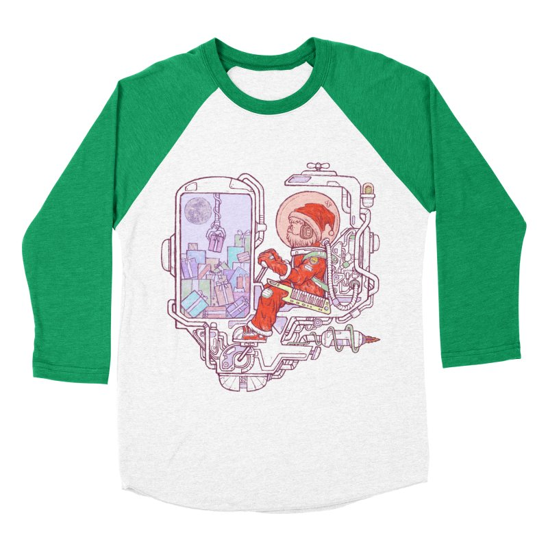 Santa space suits Men's Baseball Triblend Longsleeve T-Shirt by makapa's Artist Shop