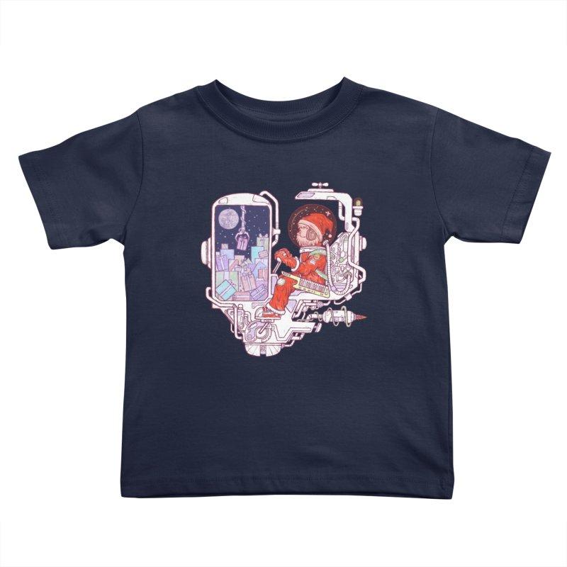 Santa space suits Kids Toddler T-Shirt by makapa's Artist Shop