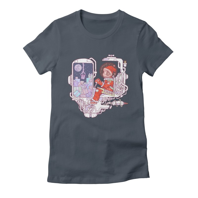 Santa space suits Women's T-Shirt by makapa's Artist Shop
