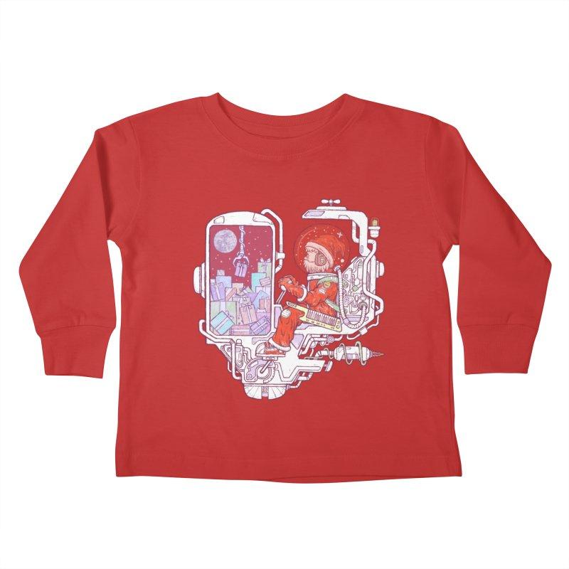 Santa space suits Kids Toddler Longsleeve T-Shirt by makapa's Artist Shop