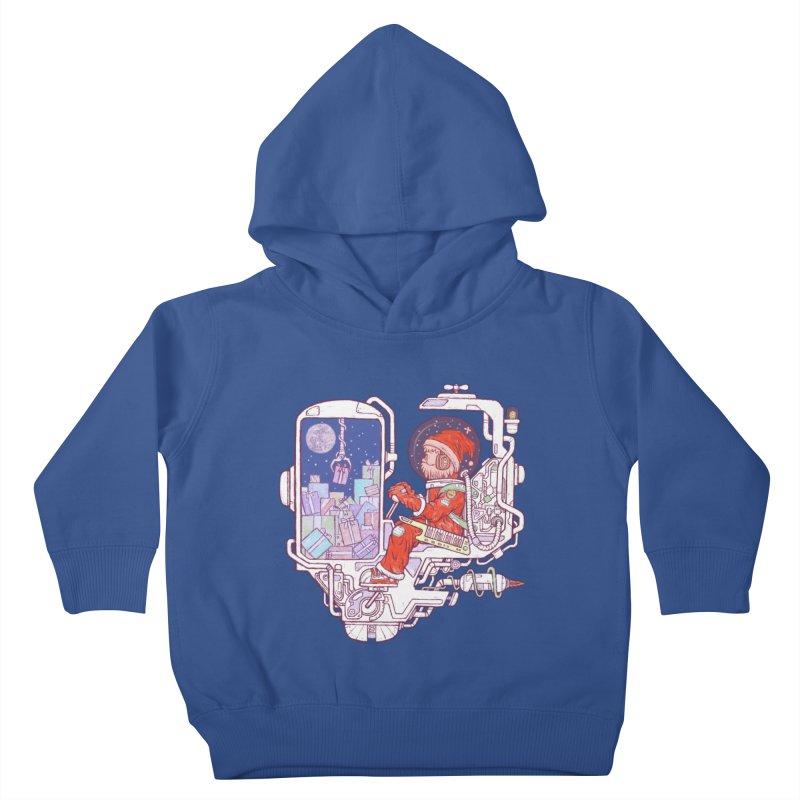 Santa space suits Kids Toddler Pullover Hoody by makapa's Artist Shop