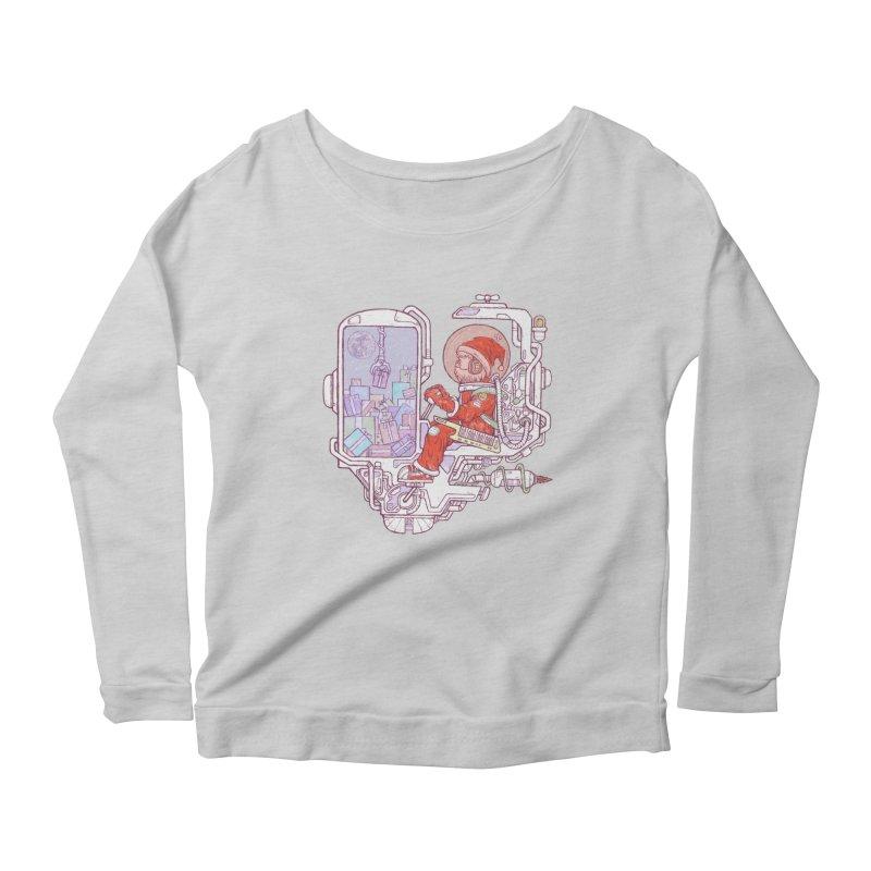 Santa space suits Women's Scoop Neck Longsleeve T-Shirt by makapa's Artist Shop