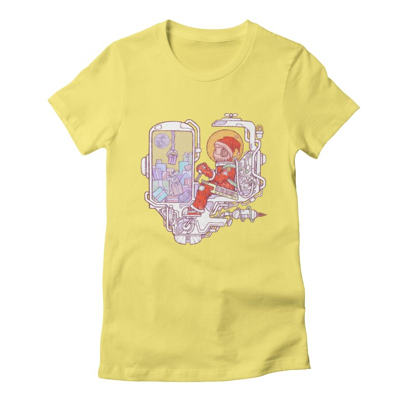 Santa space suits Women's Fitted T-Shirt by makapa's Artist Shop