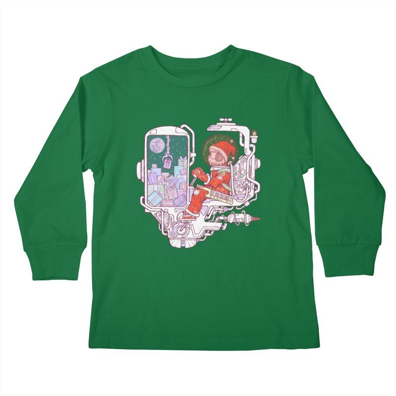 Santa space suits Kids Longsleeve T-Shirt by makapa's Artist Shop