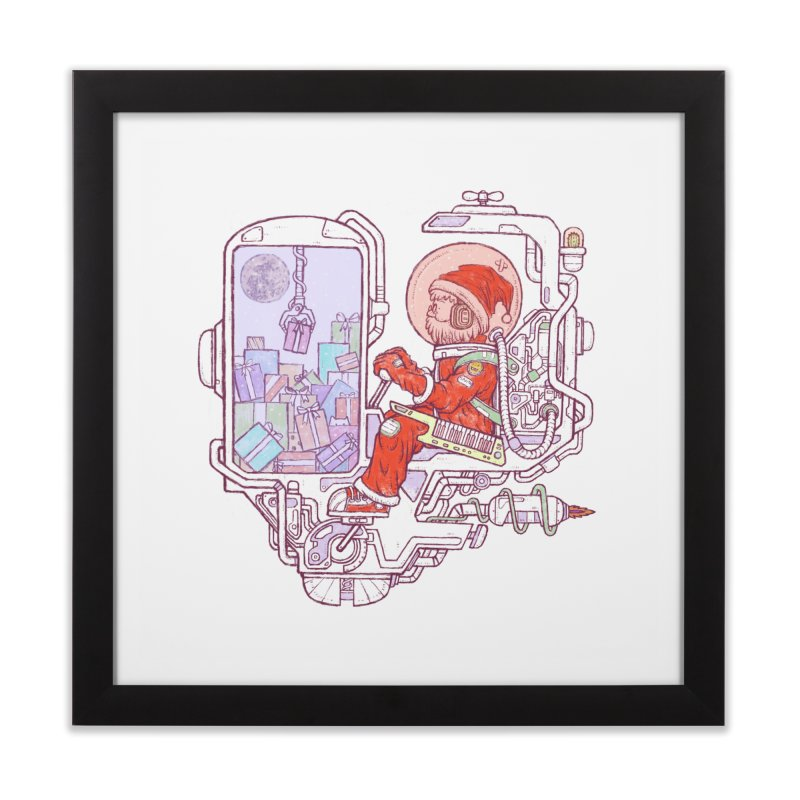 Santa space suits Home Framed Fine Art Print by makapa's Artist Shop