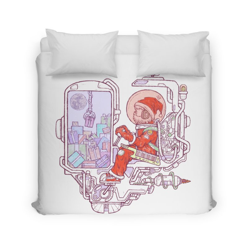Santa space suits Home Duvet by makapa's Artist Shop
