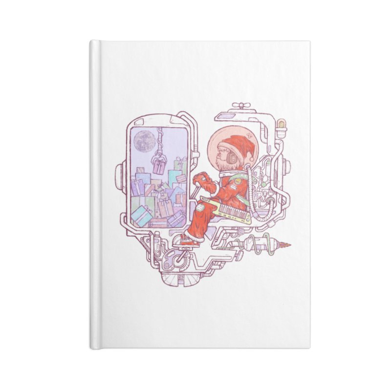 Santa space suits Accessories Blank Journal Notebook by makapa's Artist Shop
