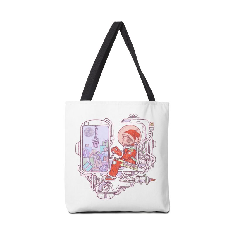 Santa space suits Accessories Tote Bag Bag by makapa's Artist Shop